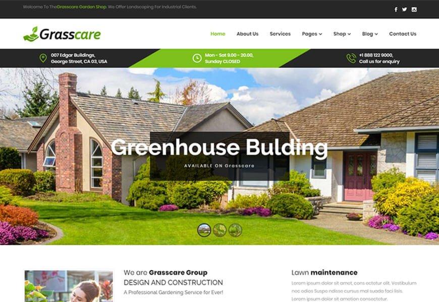 gardening wordpress theme for website