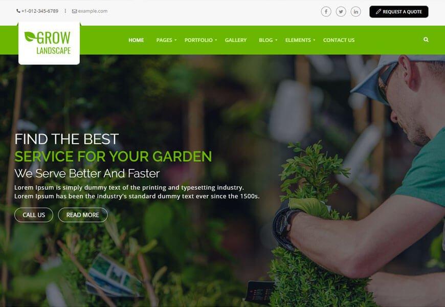 best wordpress themes for gardening