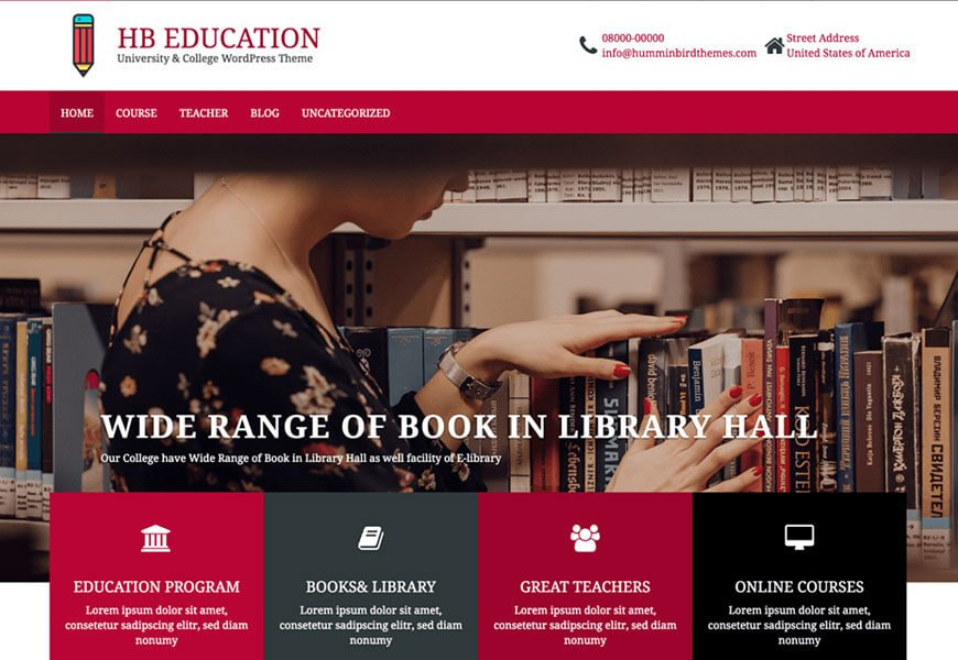 HB education wordpress theme