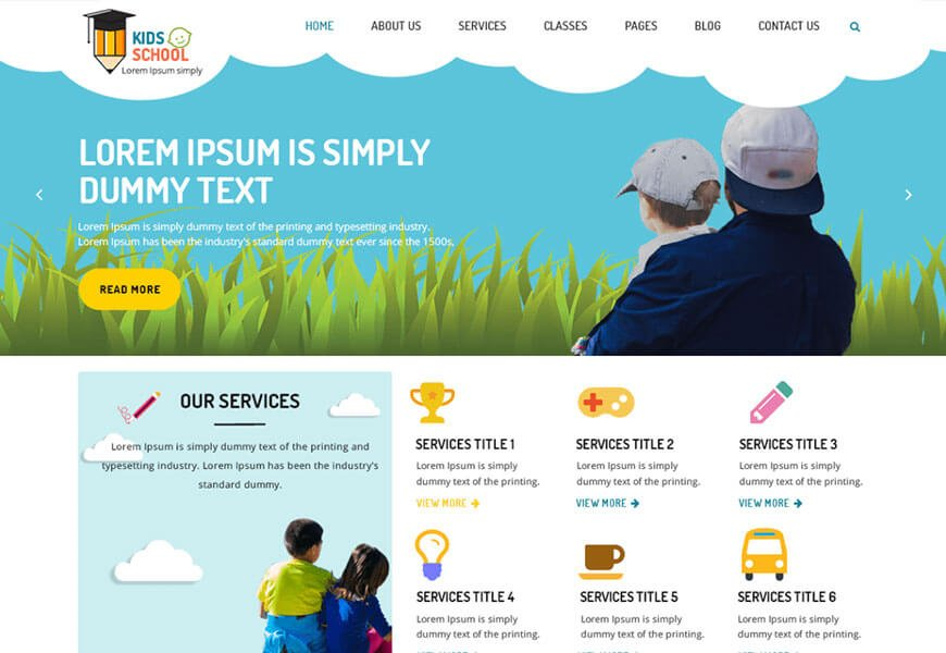 kindergarten education best free wordpress themes for educational websites