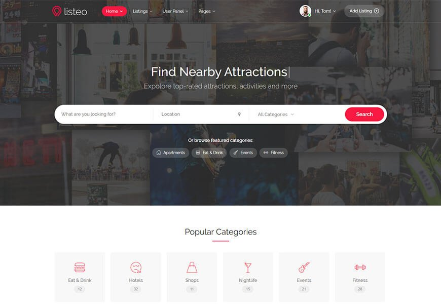 Listeo - directory website templates