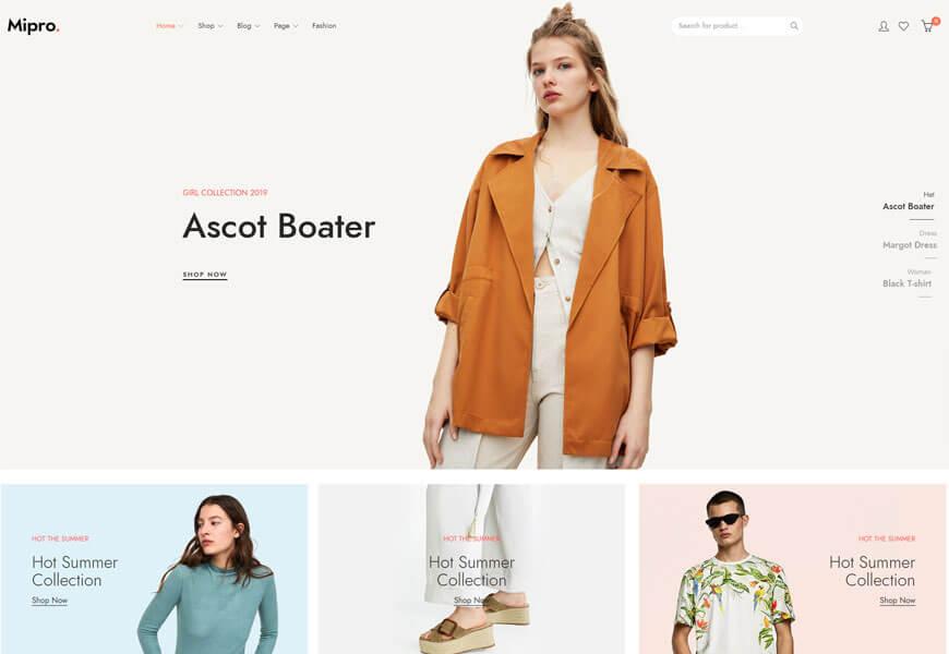 Nice minimalist WordPress theme
