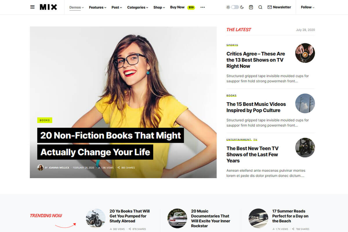 Newsblock is news WordPress theme