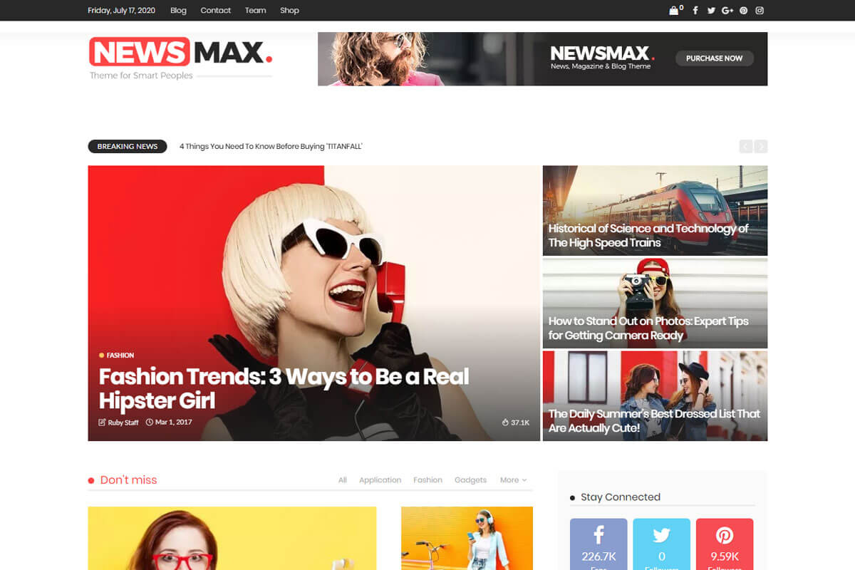 Best news wordpress theme -Newsmax