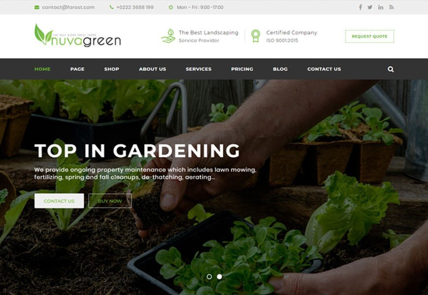 best wordpress theme for landscaping business