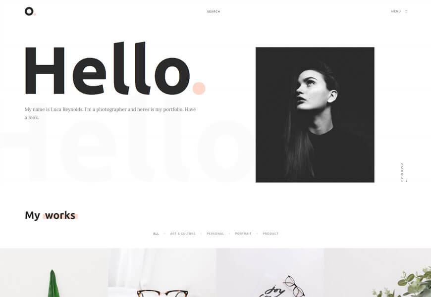 Oxer is a minimalist design portfolio theme