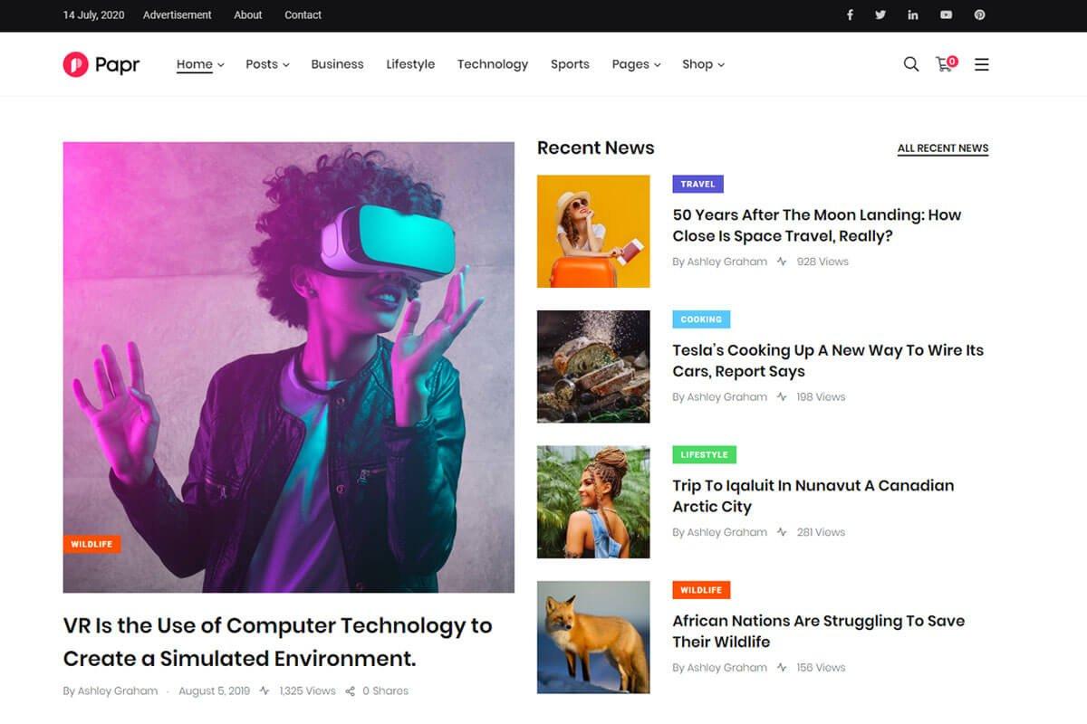 best wordpress theme for news site