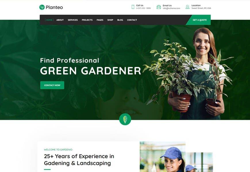 Planteo is gardening wordpress theme