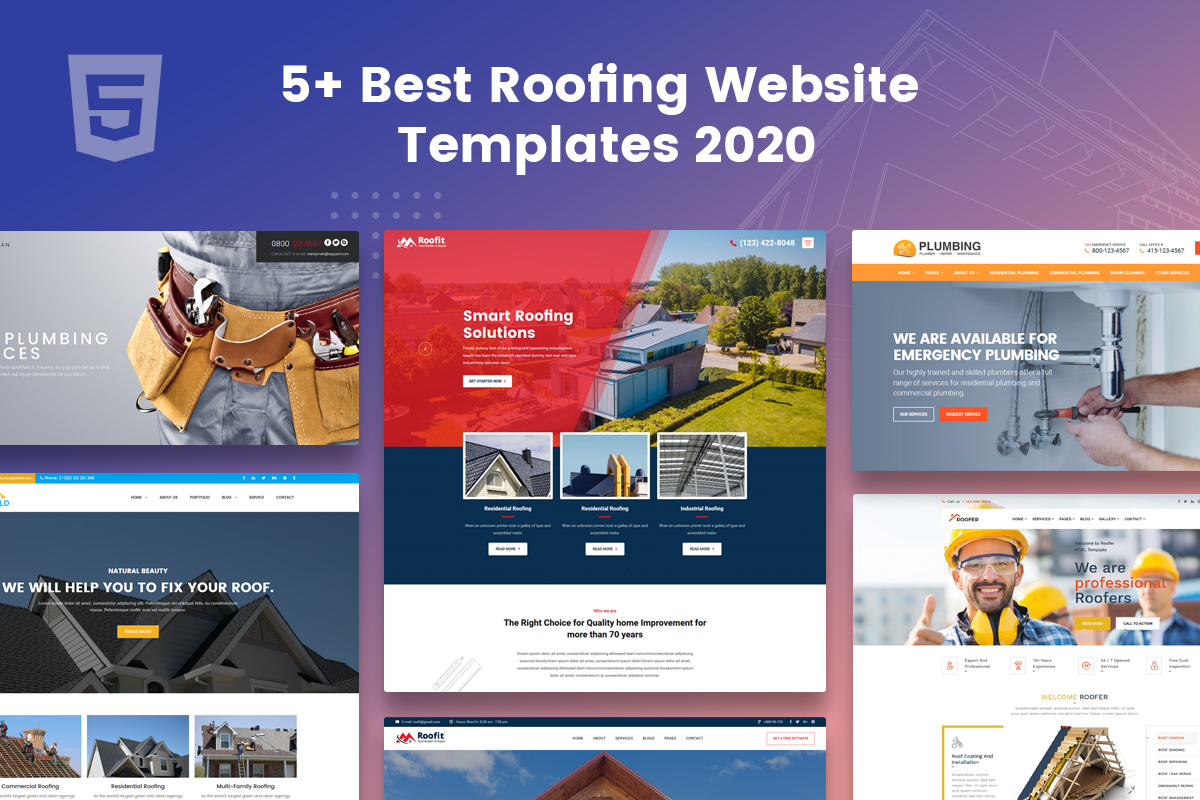 best roofing website templates