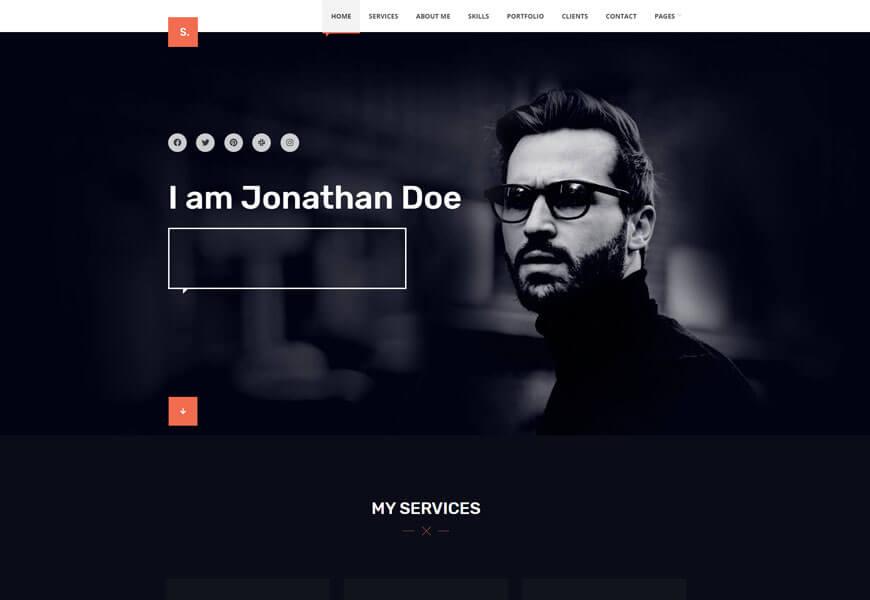 Selfer is minimal WordPress theme
