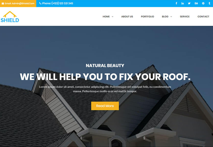 roofing company website templates