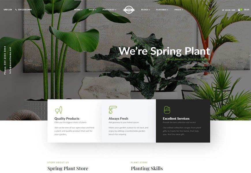 landscape services wordpress theme