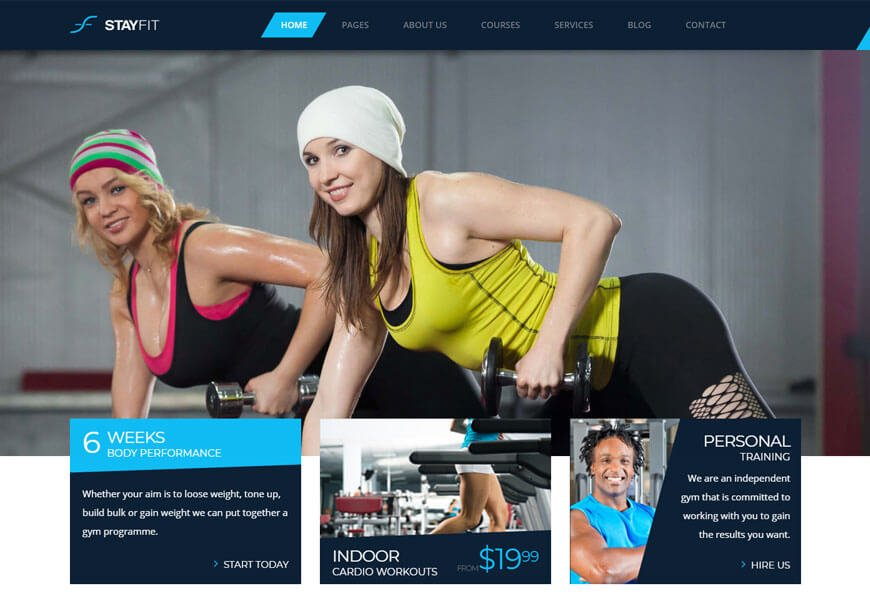 fitness website html templates