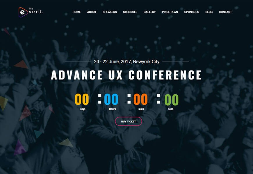 best event website template