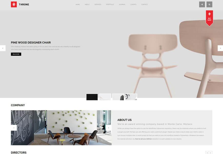 Throne is another best minimalist WordPress theme