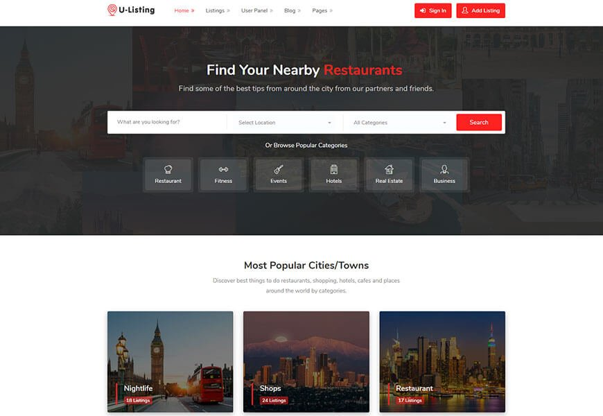 directory website templates