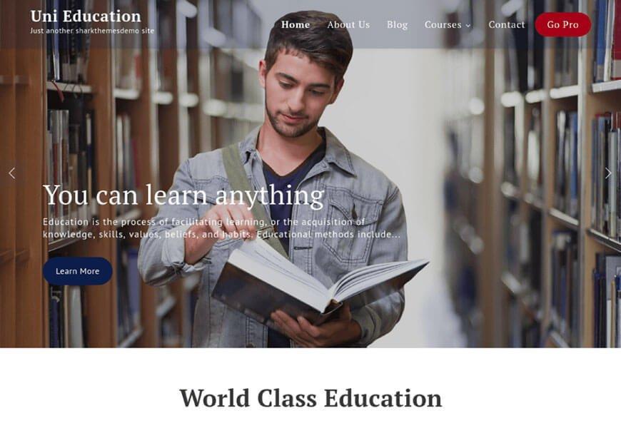 uni education wordpress theme