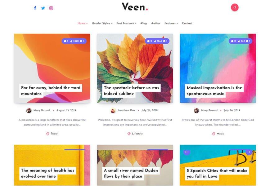 Veen is the minimalist WordPress theme