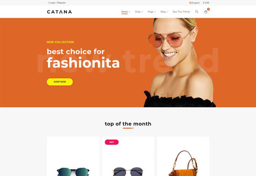 catana woocommerce theme
