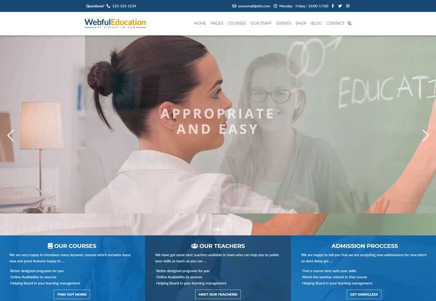 education wordpress theme for online course
