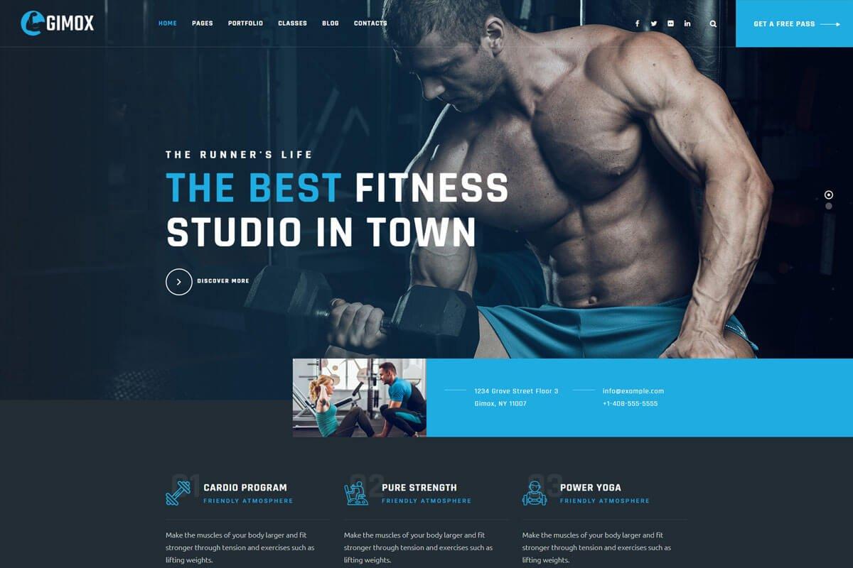 Gimox is the gym fitness WordPress themes