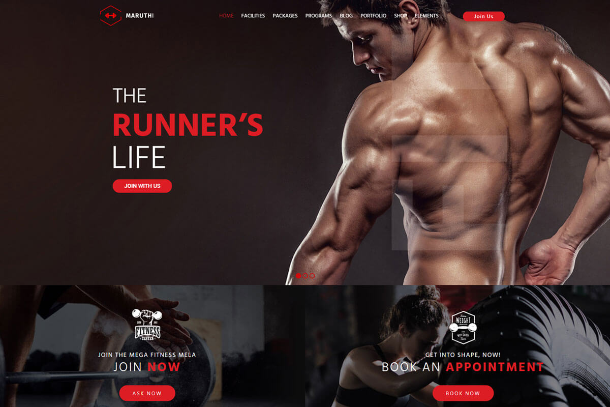 Maruthi is the fitness WordPress theme
