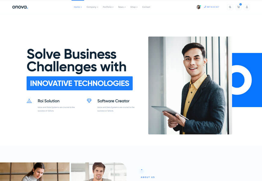 Onova is seo optimized wordpress theme