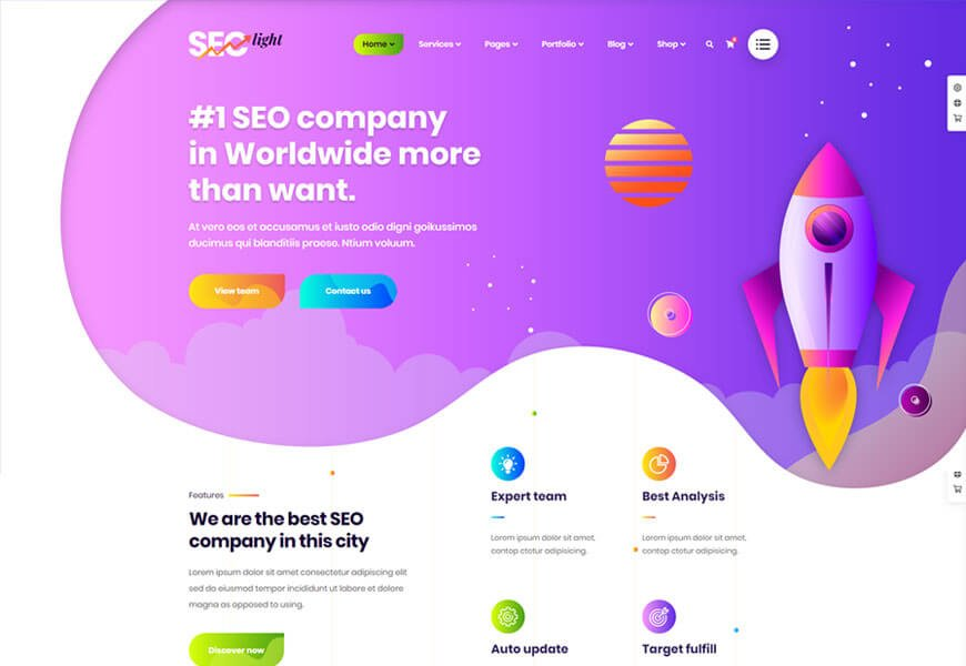 Seclight seo optimized wordpress theme for digital marketing agency