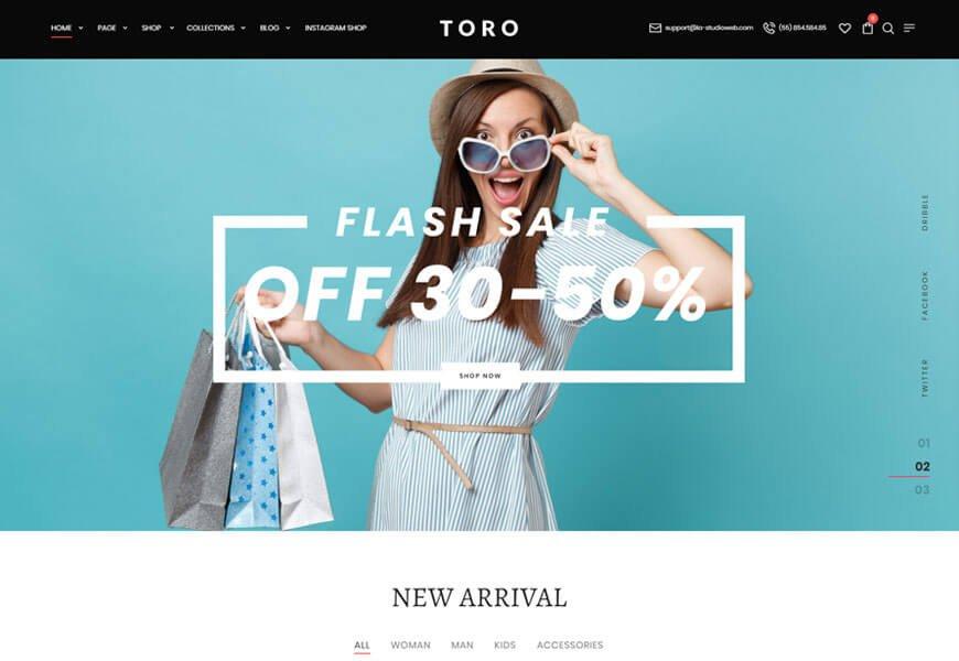 toro woocommerce theme