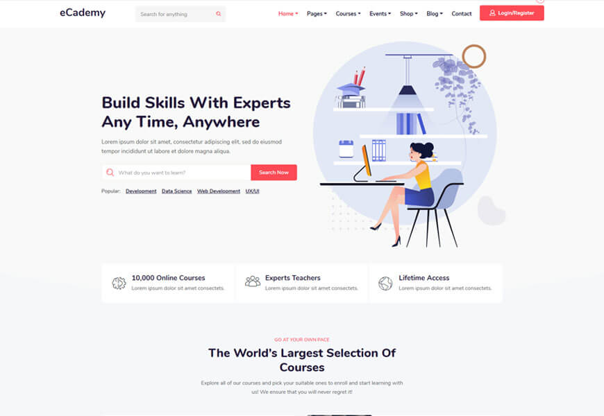 university of college education wordpress theme free download