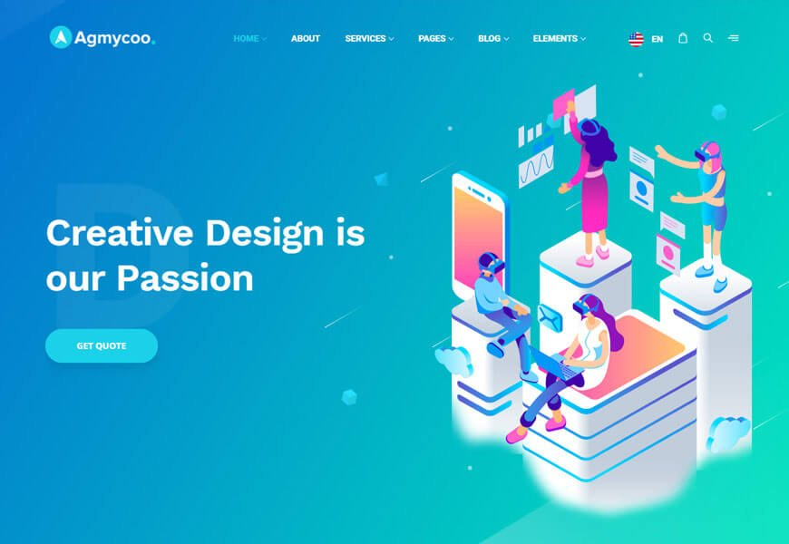 one of the software company website templates