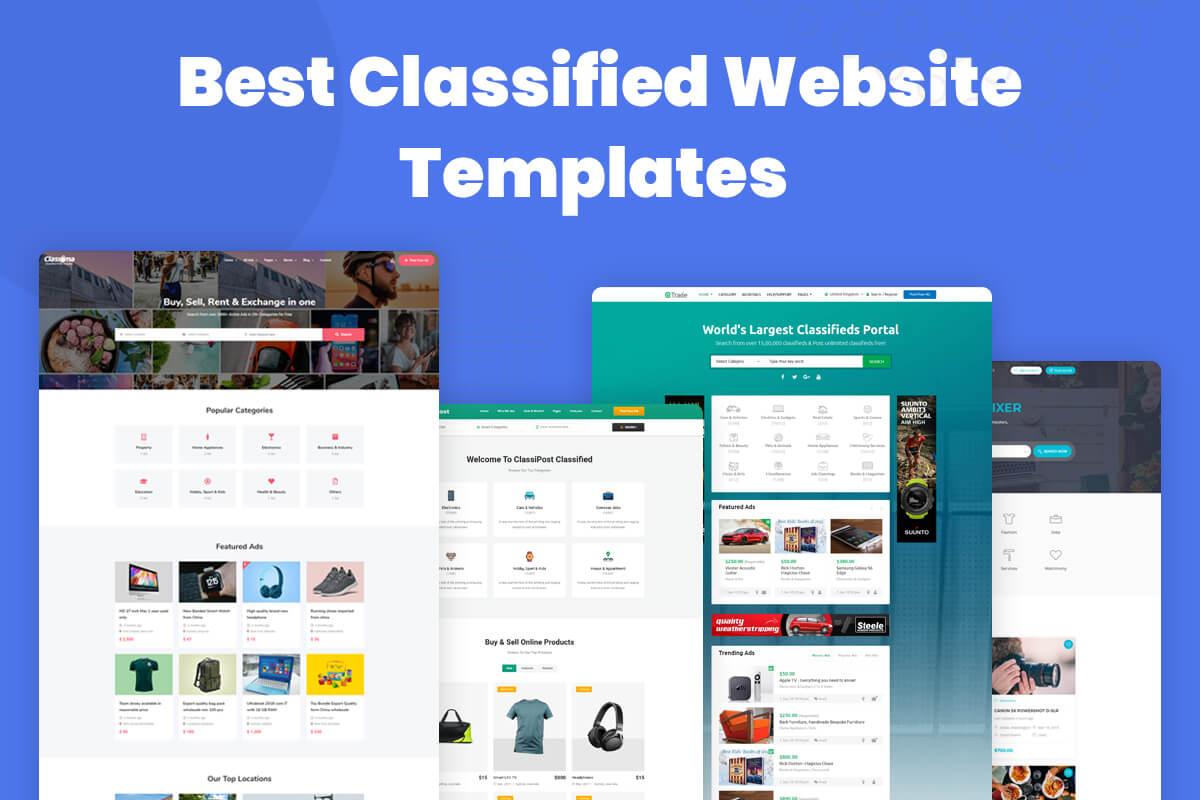 classified ads website template
