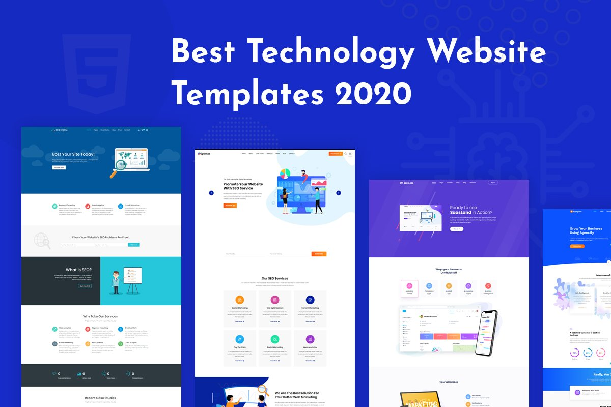 Best Technology Website Templates 2020