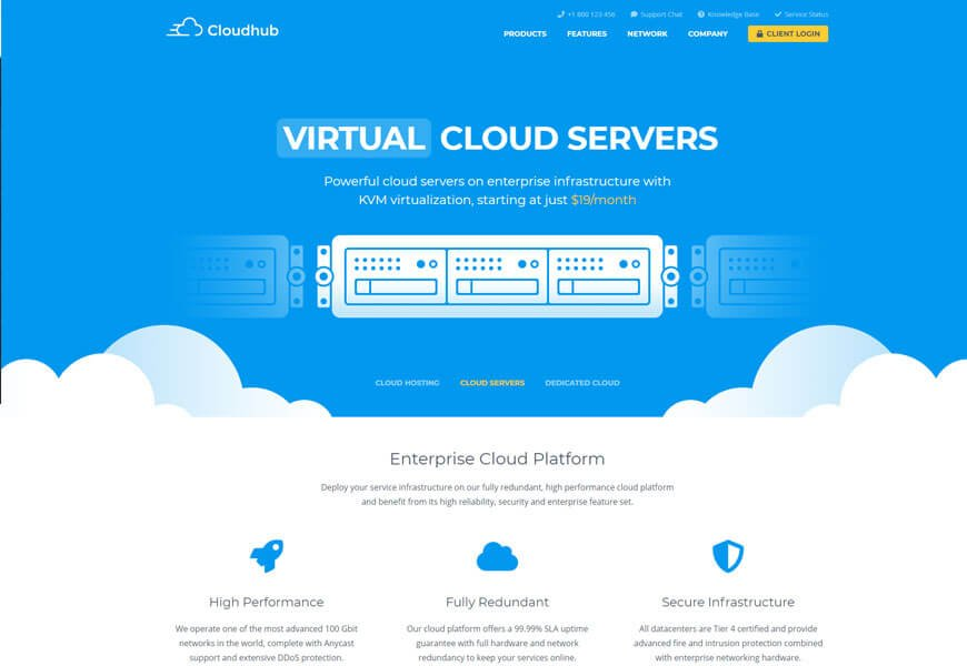 best technology website templates for server company