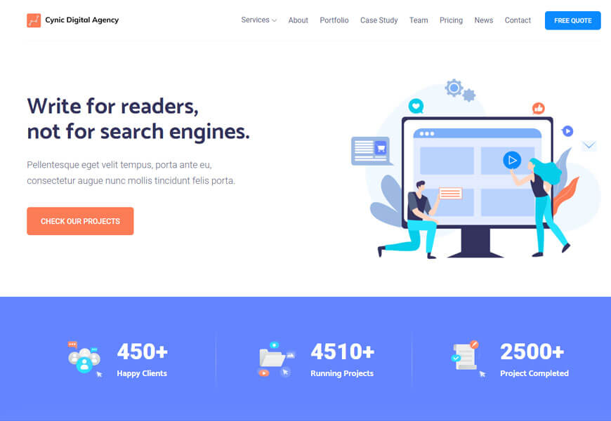 best technology website templates for search engine optimization