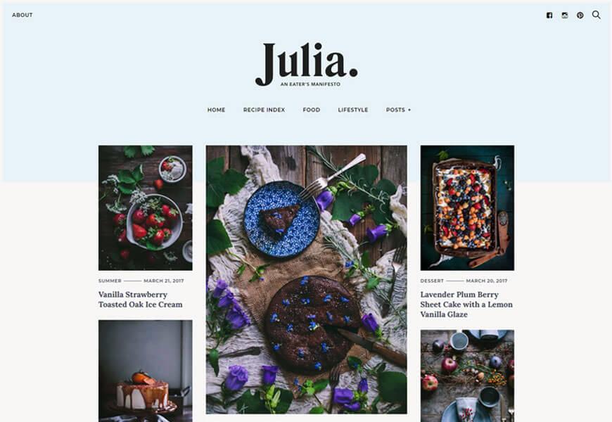 best premium wordpress themes for food blogs