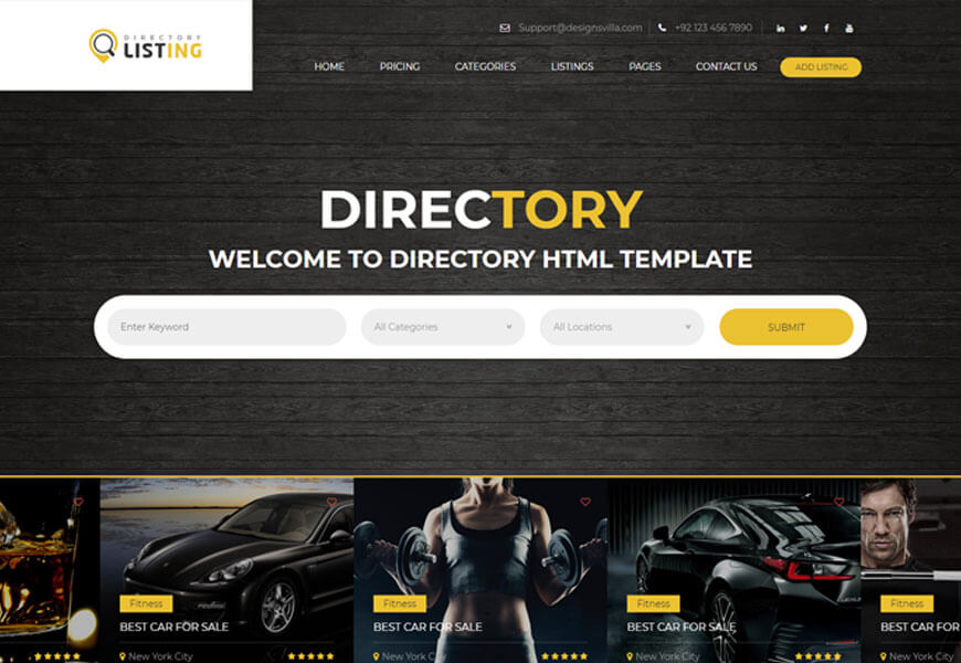 classified ads website template bootstrap