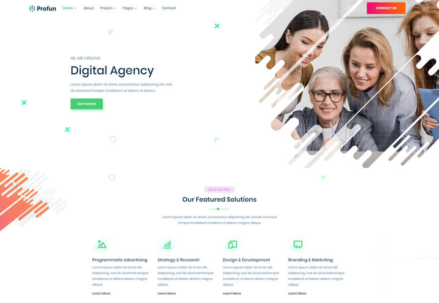best technology website templates for digital agency