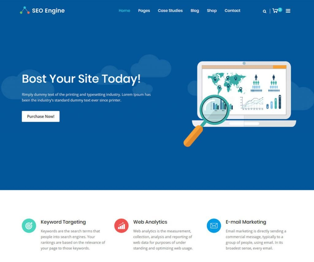 seo engine best software company website templates