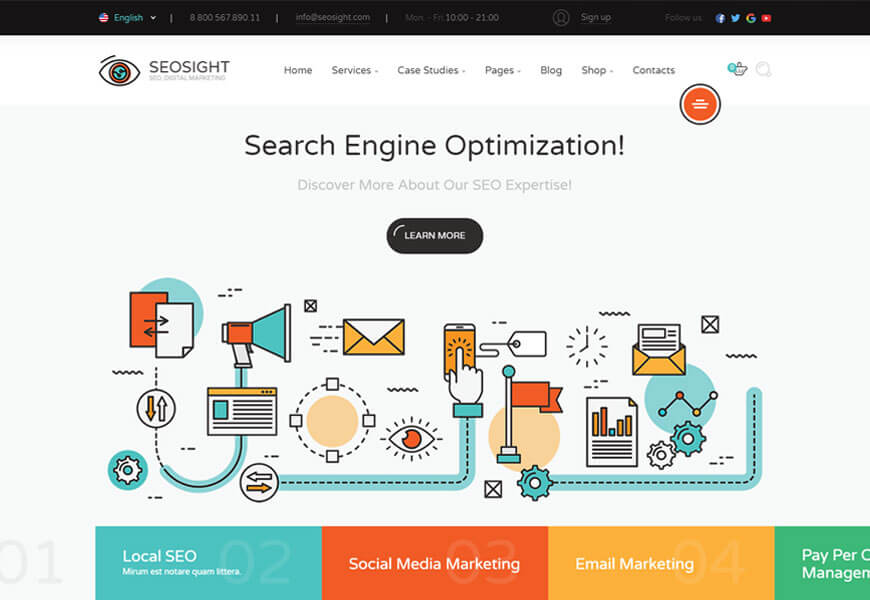 technology website templates for seo agency