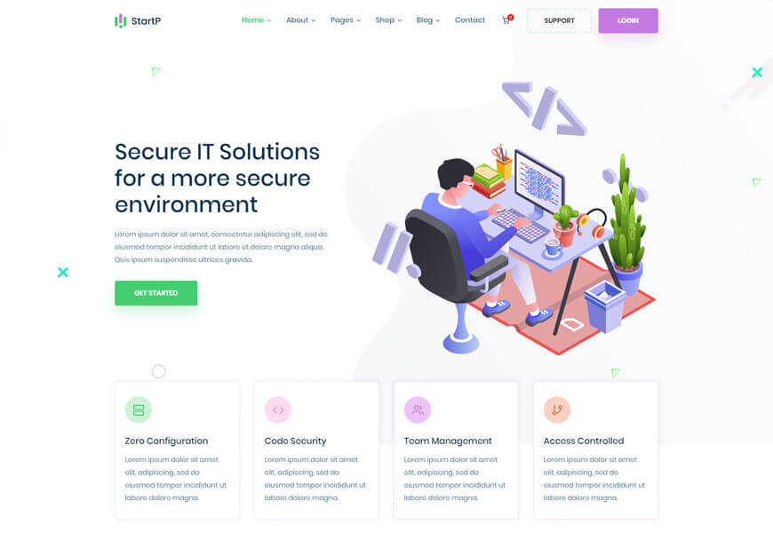 best technology website templates for it company