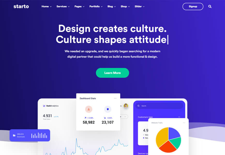 startup agency website templates for designer