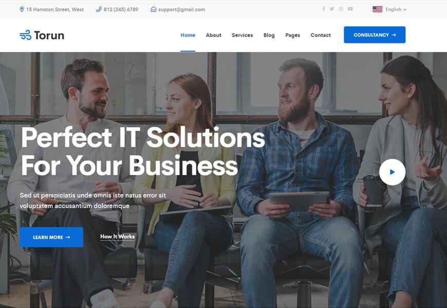 best technology website templates 2020