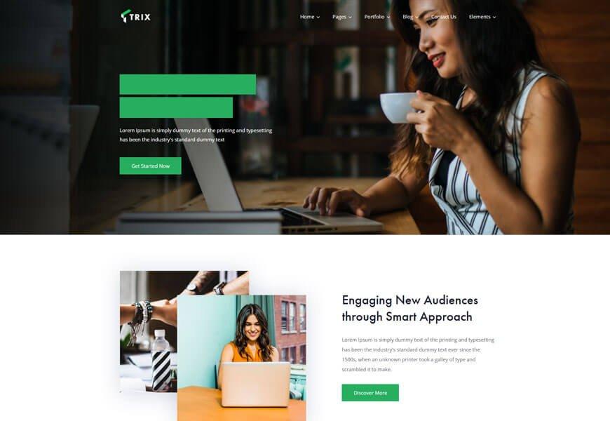 startup company wordpress theme trix