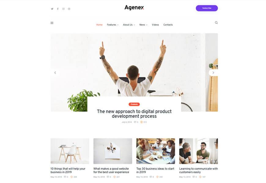 yolox best startup wordpress themes