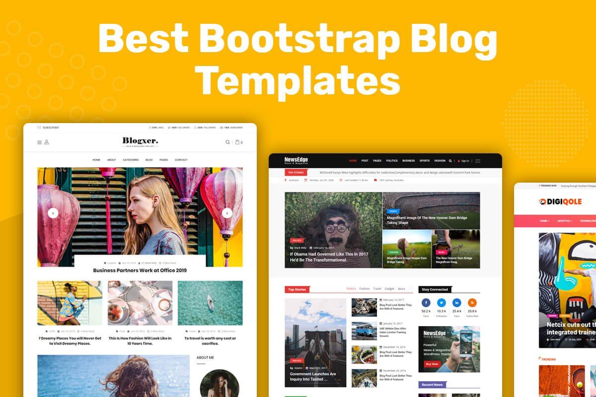 Best Bootstrap Blog Templates
