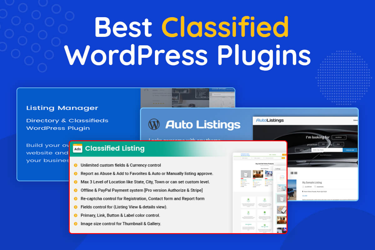 Best WordPress Classified Plugins
