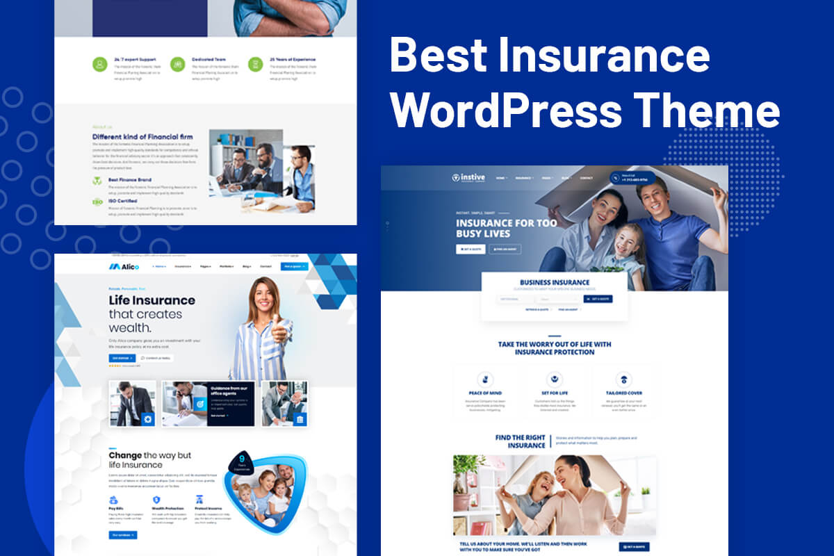 insurance agency wordpress theme for insurance website