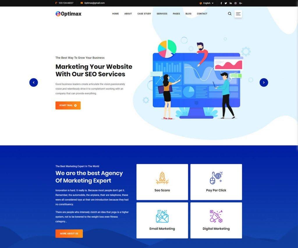 Optimax seo website templates