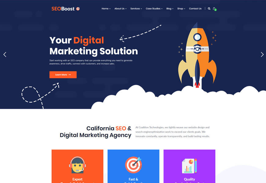 seo company website templates